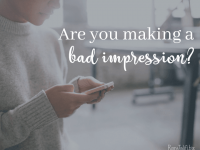 Are you making a good impression on others?