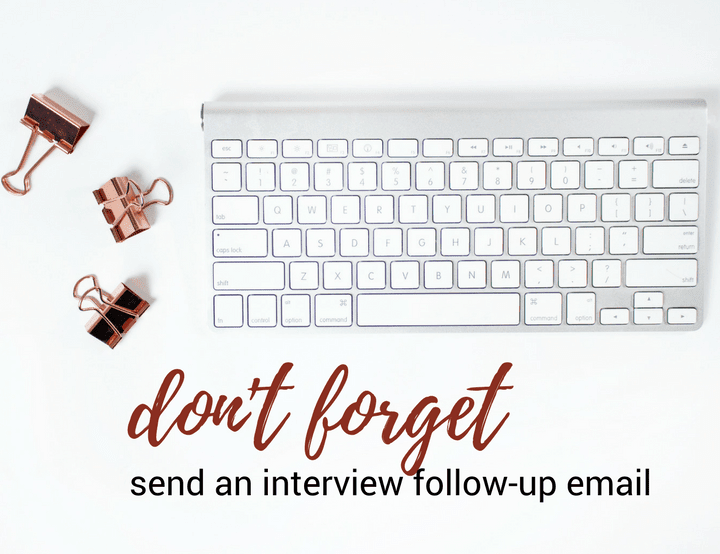 reasons why you should send a job application follow up email