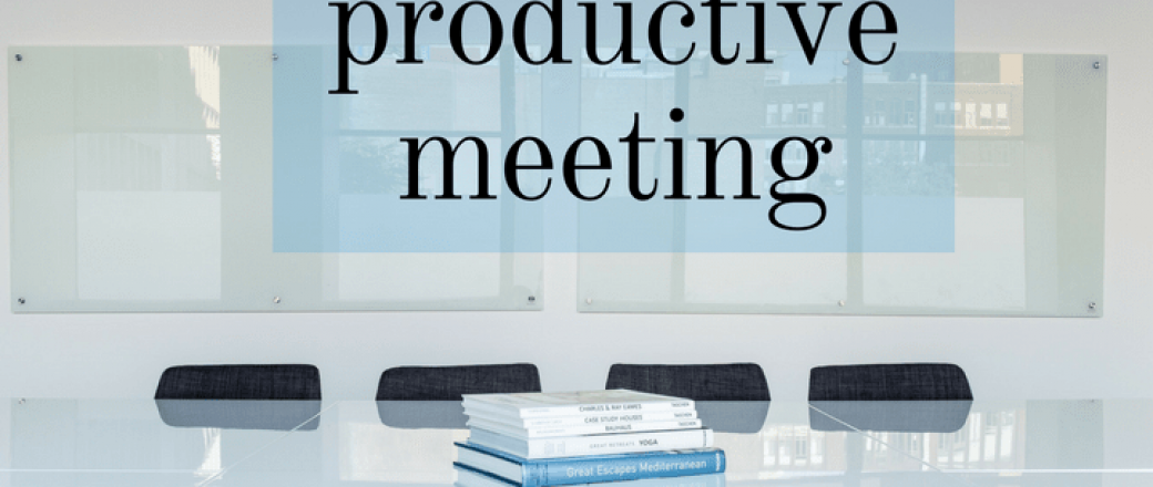 4 Tips for a Most Productive Meeting